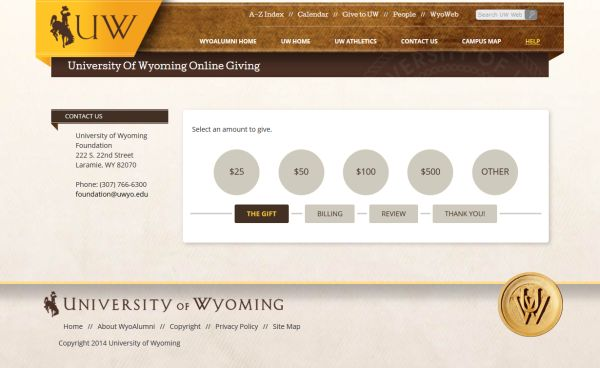 Imodules Annual Giving University Of Wyoming